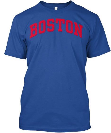 Boston 617 T Shirts Deep Royal T-Shirt Front