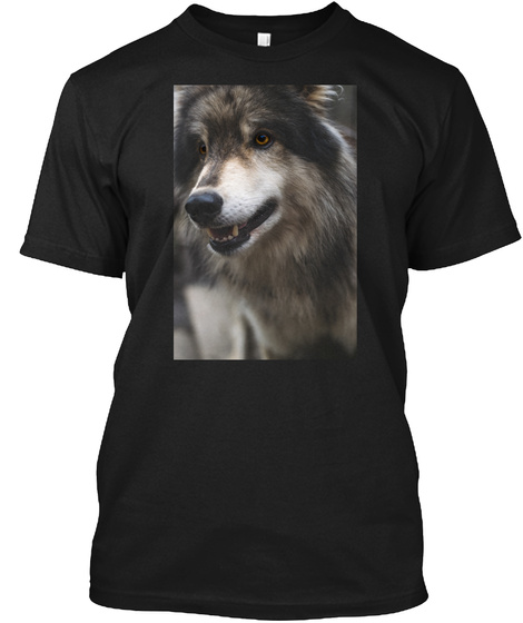 My Pack Of Wolves Sanctuary  Black T-Shirt Front