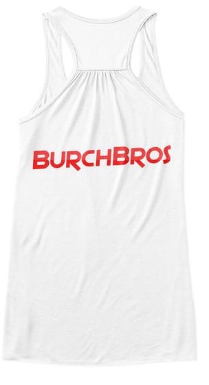 Burch Bros Women Tank Top White T-Shirt Back