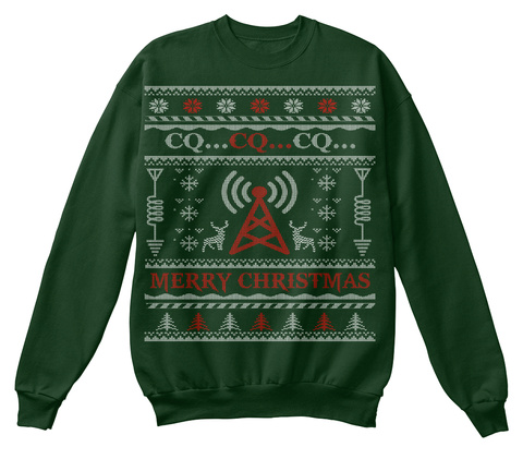 Ham Radio Xmas Ugly Sweater Ending Soon! Deep Forest  T-Shirt Front