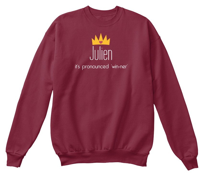 shirt unisexe prononcé Win standard Ner Sweat Julien son qUCOAA