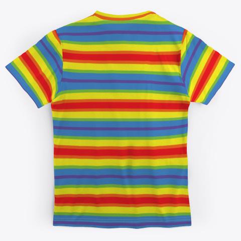 The Unicorn Rainbow Color Standard T-Shirt Back