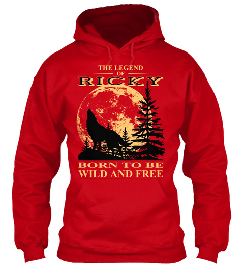 The Legend Of Ricky Born To Be Wild And Free Red T-Shirt Front