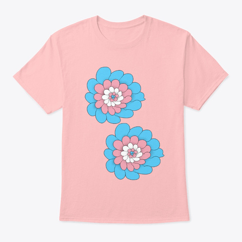 Trans Flower Pale Pink T-Shirt Front