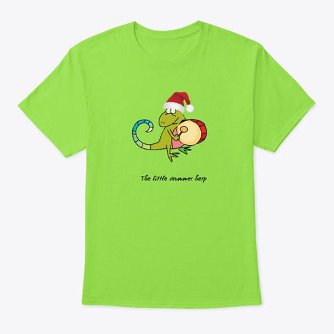 The Little Drummer Herp Lime T-Shirt Front