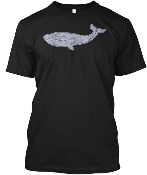 Mens Cute Unique Modern Aztec Whale Art  Black T-Shirt Front