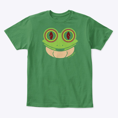 Kg Frog Kelly Green  T-Shirt Front