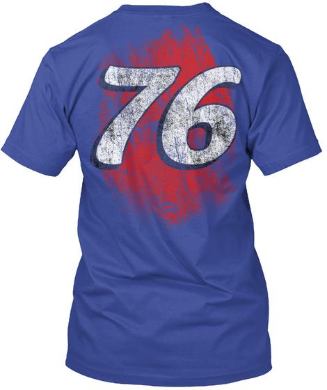 76 Deep Royal T-Shirt Back