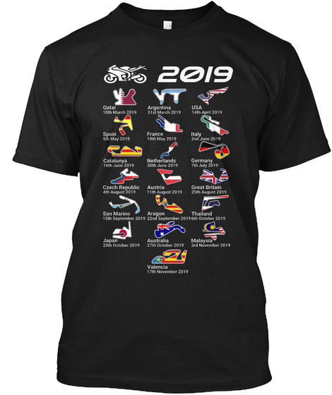 MotoGP 2019 Calendar T-Shirt