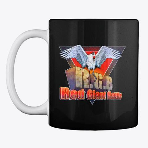 Red Giant Battle Mug Black T-Shirt Front
