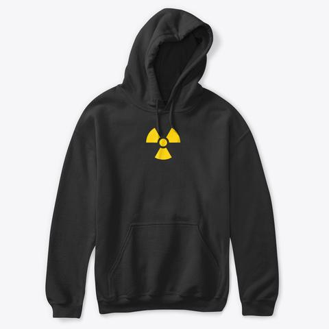 Radioactive Symbol T Shirt Novelty Shirt Black T-Shirt Front