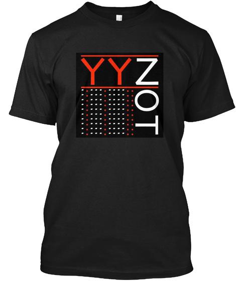 Yynot Men's Tees And Ladies Tanks. Black T-Shirt Front