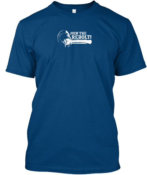 Join The Rebolt! 2019 Cool Blue T-Shirt Front