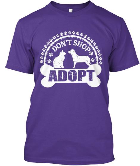 Don't Shop Adopt Purple T-Shirt Front