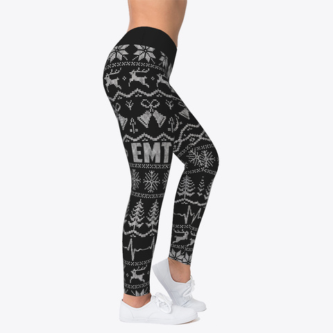 Emt Ugly Christmas Leggings Black Camiseta Right