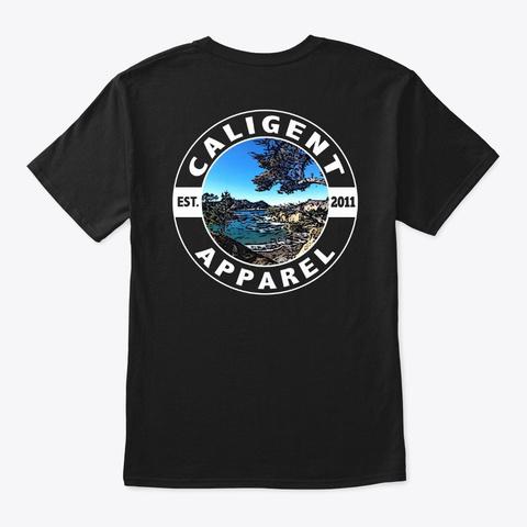 Point Lobos Cali Gent Shield Black T-Shirt Back