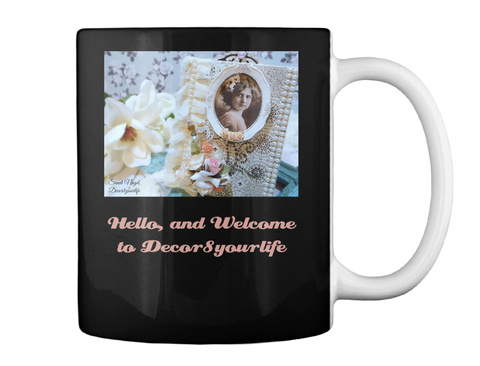 Hello, And Welcome To Decor8yourlife Black Mug Back