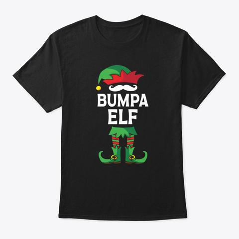 Bumpa Elf Costume Xmas Matching Family  Black T-Shirt Front