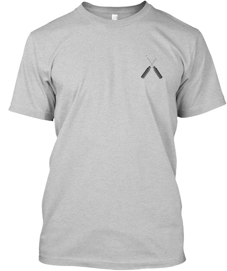 Sarcastic Hvac Tech Shirt Light Steel T-Shirt Front