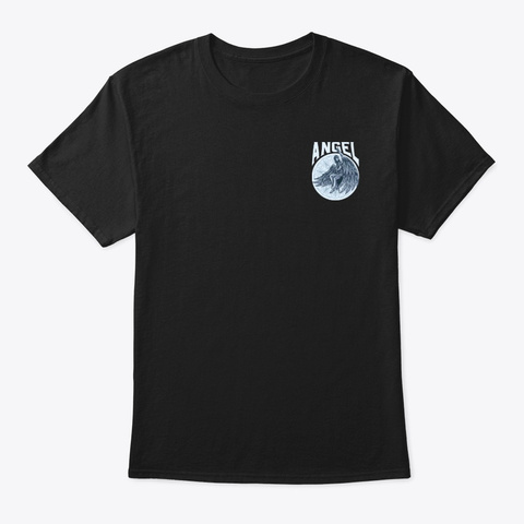 Angel Wings Tee Shirt And Hoodie Black T-Shirt Front