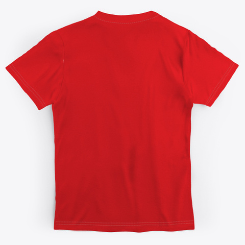 Peace Calm Serenity Equanimity Red T-Shirt Back