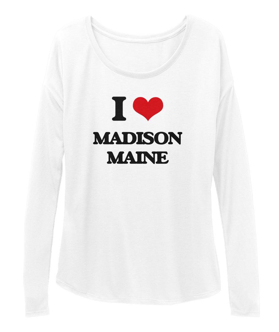 I Love Heart Madison Black Sweatshirt