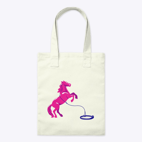 Portland Horse Project Pink Horse Tote Natural T-Shirt Front