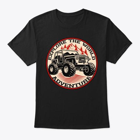 Explore Off Road Truck Tee Shirt Black T-Shirt Front