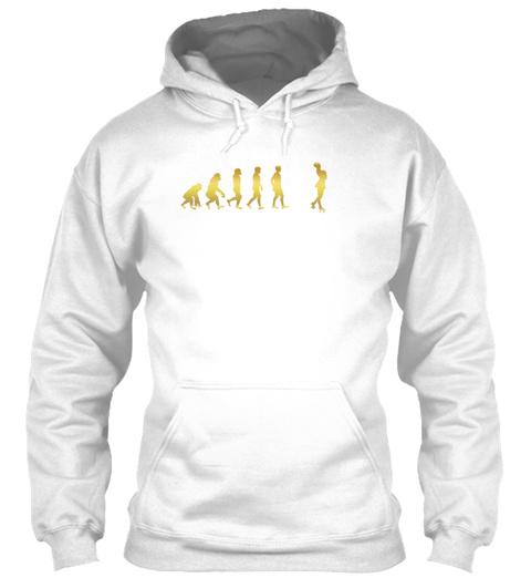 Evolution Human Ekg Heartbeat Roller Ska White T-Shirt Front