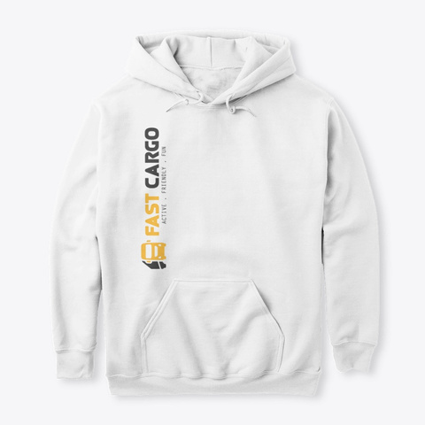 Fast Cargo Vtc   Hoodie [White] White T-Shirt Front