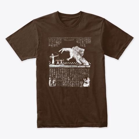Spinosaurus Dinosaur In Ancient Egypt Dark Chocolate T-Shirt Front
