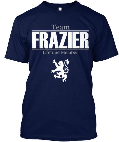 Team Frazier Lifetime Member Navy T-Shirt Front