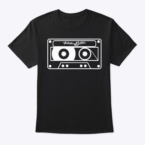 Kg White Cassette Black T-Shirt Front