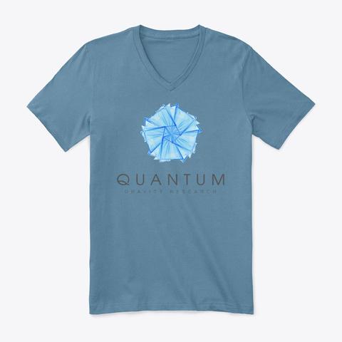Quantum Gravity Research  Steel Blue T-Shirt Front