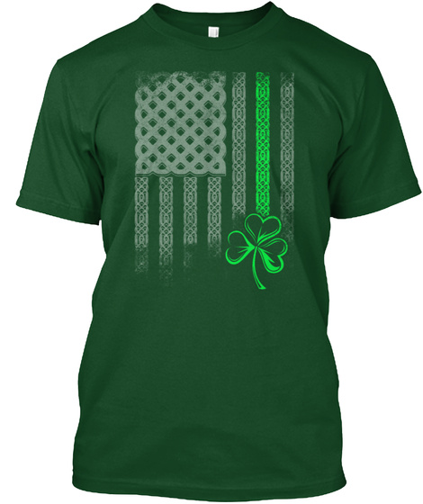 Limited Edition   Irish Green Line Deep Forest T-Shirt Front