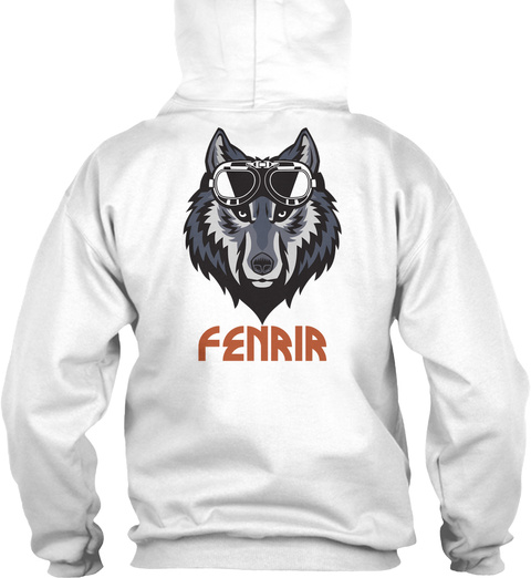 Fenrir White T-Shirt Back