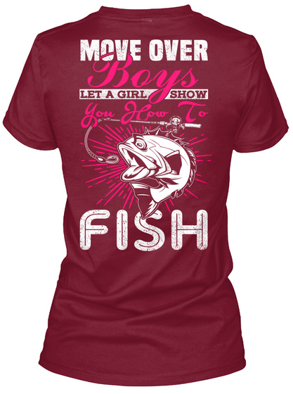 Move over boys move over boys let a girl show you how for National fishing association