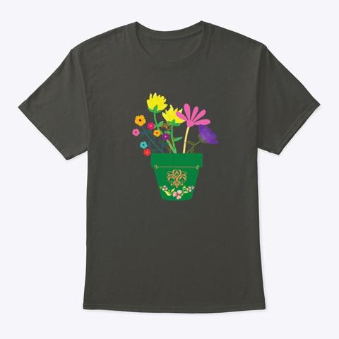 Flower Pot Smoke Gray T-Shirt Front