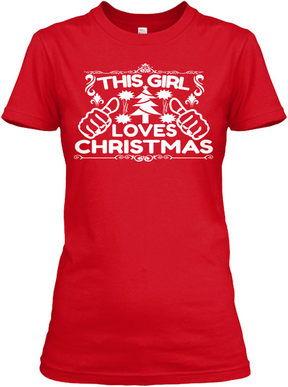 Merry Christmas Tshirt Red T-Shirt Front