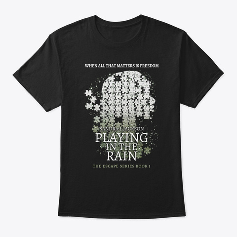 Playing In The Rain Black Camiseta Front