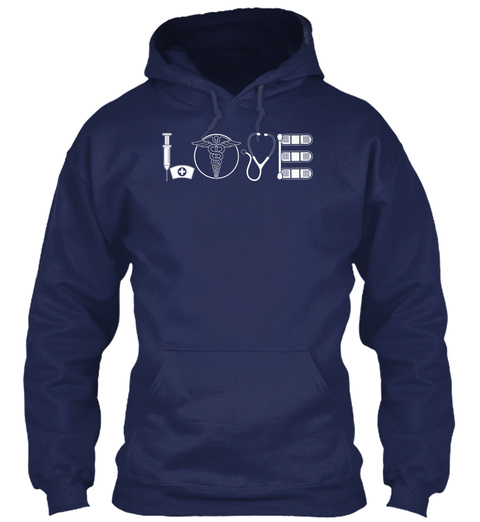 Love  Navy Camiseta Front