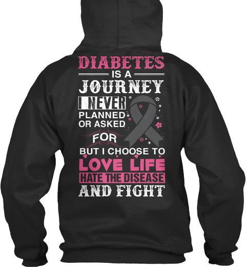 Uk Diabetes   Ending Soon!! Jet Black T-Shirt Back