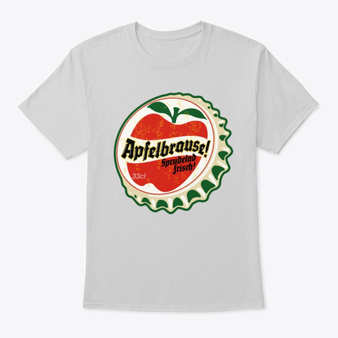 Apfelbrause Soda Bottle Cap Light Steel T-Shirt Front