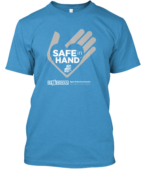 Saff In Hand R7 Hsa Heathered Bright Turquoise  T-Shirt Front