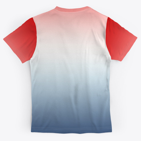 Red White Blue Color Gradient Standard T-Shirt Back