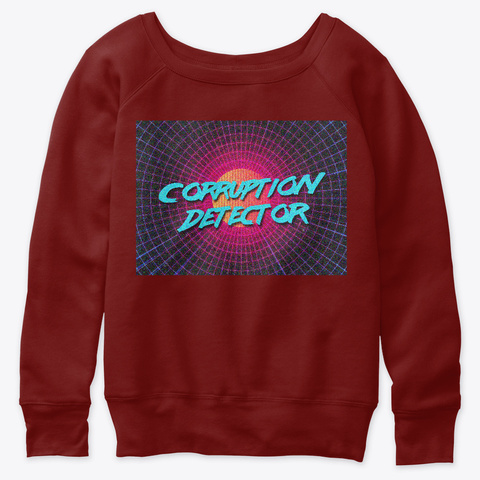 Corruption Detector Dark Red Triblend T-Shirt Front