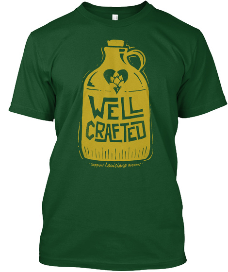 Well Crafted Forest Green  T-Shirt Front