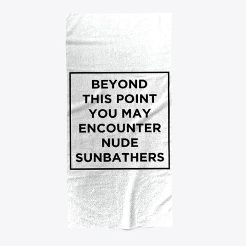 Naturist Beach Towel Standard T-Shirt Front