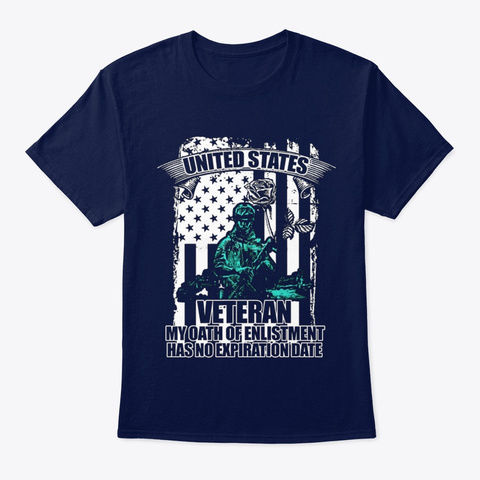 Veteran My Oath Of Enlistment Navy T-Shirt Front