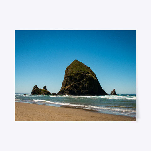 Haystack Rock   Cannon Beach, Oregon White T-Shirt Front
